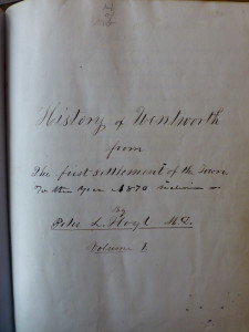 Hoyt History of Wentworth manuscript 01